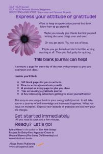 my attitude of gratitude daily journal back cover