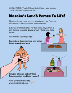 back cover masakos bento lunchbox surprise childrens story picture book for age 4 - 8